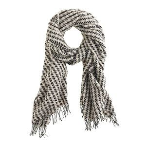 J. Crew Wool Houndstooth Scarf